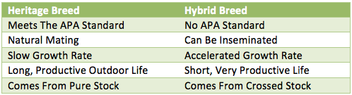 Heritage Vs Hybrid Lifespan