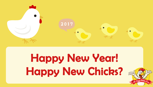 Happy New Year. Happy New Chicks Blog Cover